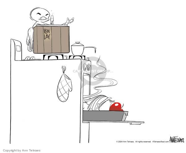 Cartoonist Ann Telnaes  Ann Telnaes' Editorial Cartoons 2004-03-08 obstruction of justice