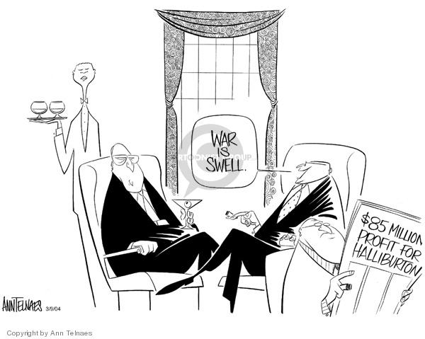Ann Telnaes  Ann Telnaes' Editorial Cartoons 2004-03-09 profiteer