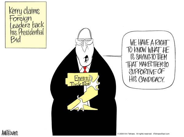 Cartoonist Ann Telnaes  Ann Telnaes' Editorial Cartoons 2004-03-17 Dick Cheney
