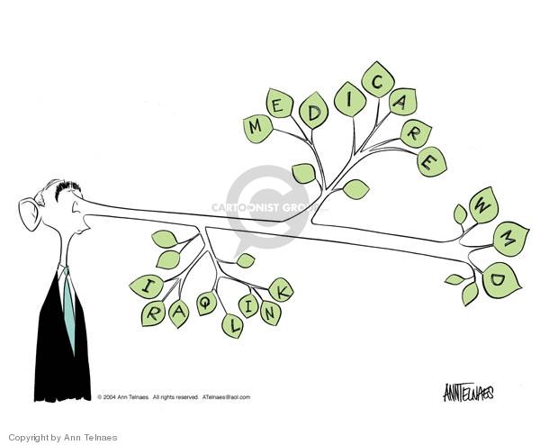 Ann Telnaes  Ann Telnaes' Editorial Cartoons 2004-03-21 George W. Bush