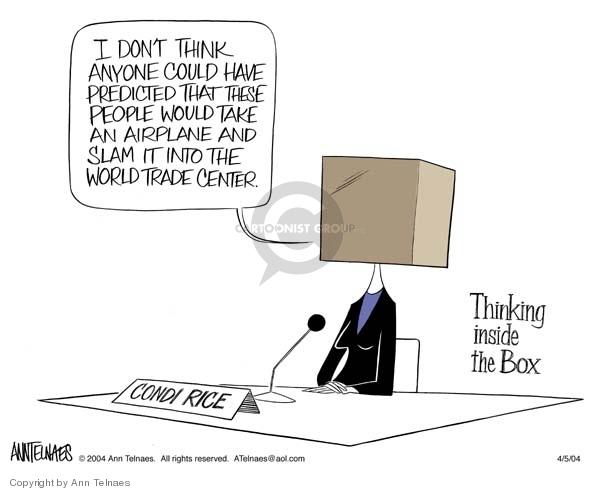 Ann Telnaes  Ann Telnaes' Editorial Cartoons 2004-04-05 think