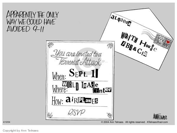 Ann Telnaes  Ann Telnaes' Editorial Cartoons 2004-04-12 could