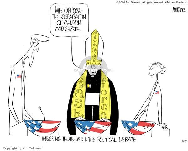 Ann Telnaes  Ann Telnaes' Editorial Cartoons 2004-04-17 George W. Bush