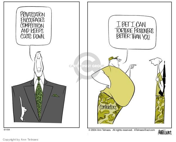Ann Telnaes  Ann Telnaes' Editorial Cartoons 2004-06-01 business