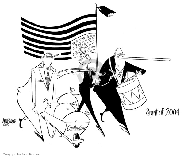 Ann Telnaes  Ann Telnaes' Editorial Cartoons 2004-07-02 political corruption