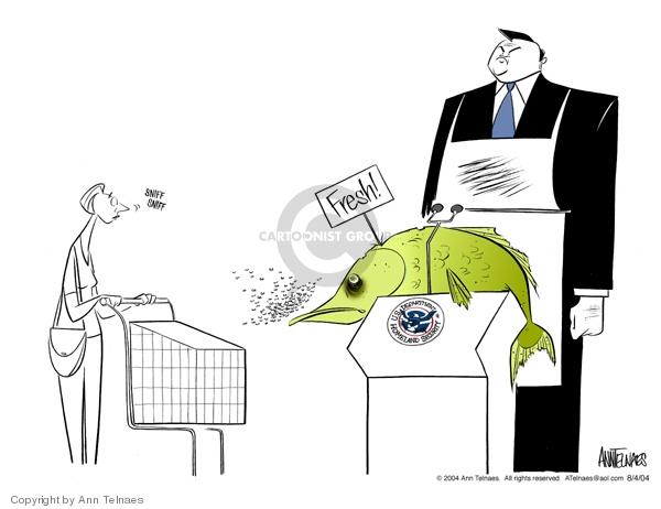 Cartoonist Ann Telnaes  Ann Telnaes' Editorial Cartoons 2004-08-04 market