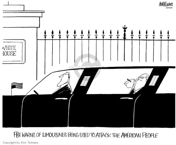 Cartoonist Ann Telnaes  Ann Telnaes' Editorial Cartoons 2004-08-10 limousine