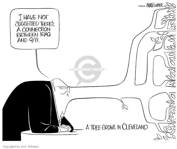 Ann Telnaes  Ann Telnaes' Editorial Cartoons 2004-10-06 nose