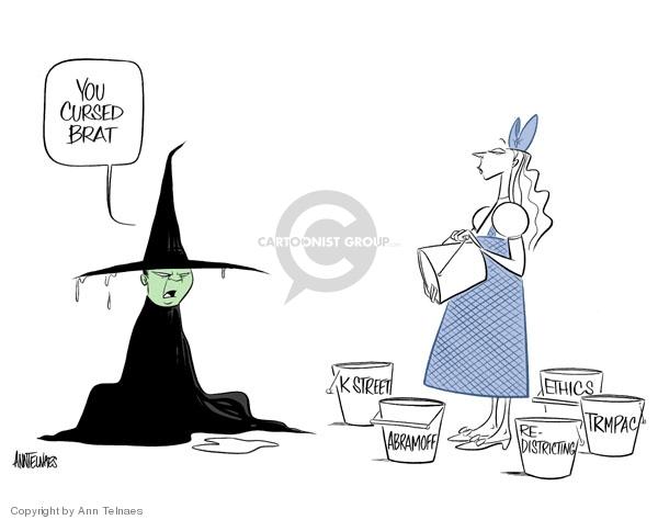 Ann Telnaes  Ann Telnaes' Editorial Cartoons 2006-04-05 political corruption