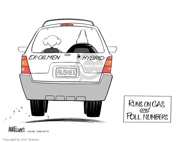Ex-oilmen Hybrid. Bushies. Runs on gas and poll numbers.