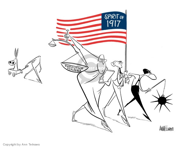 Cartoonist Ann Telnaes  Ann Telnaes' Editorial Cartoons 2006-07-03 separation of powers