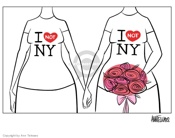 "I [heart shape to indicate love with the word ""not""] NY. I [heart shape to indicate love with the word ""not""] NY. [I dont love NY]."