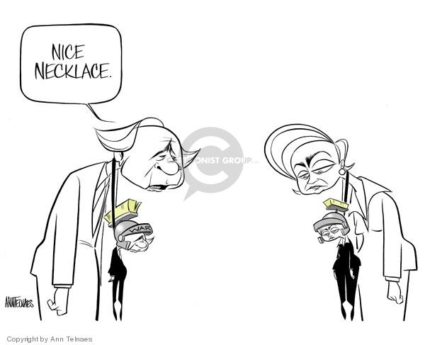 Cartoonist Ann Telnaes  Ann Telnaes' Editorial Cartoons 2006-08-10 senate