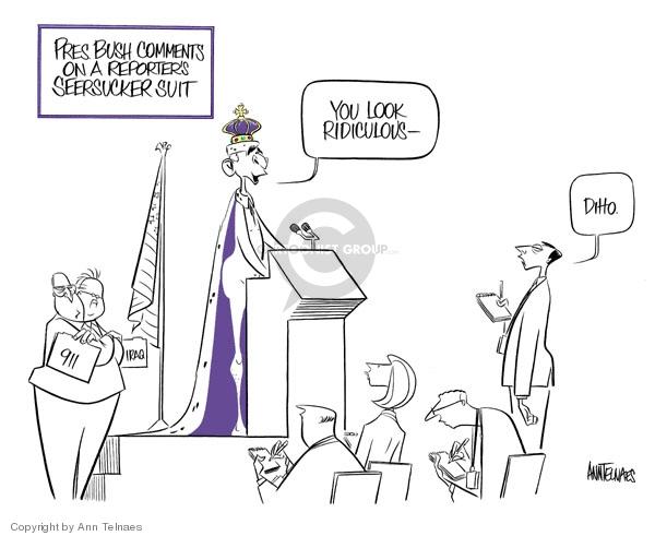Ann Telnaes  Ann Telnaes' Editorial Cartoons 2006-08-23 press conference