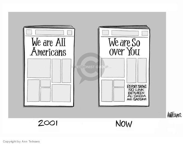 Ann Telnaes  Ann Telnaes' Editorial Cartoons 2006-09-11 justification