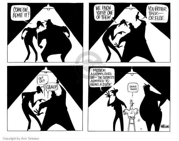 Ann Telnaes  Ann Telnaes' Editorial Cartoons 2006-09-21 Mission Accomplished