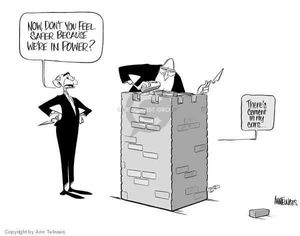 Cartoonist Ann Telnaes  Ann Telnaes' Editorial Cartoons 2006-09-30 vice president