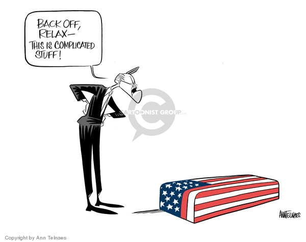 Cartoonist Ann Telnaes  Ann Telnaes' Editorial Cartoons 2006-11-01 coffin