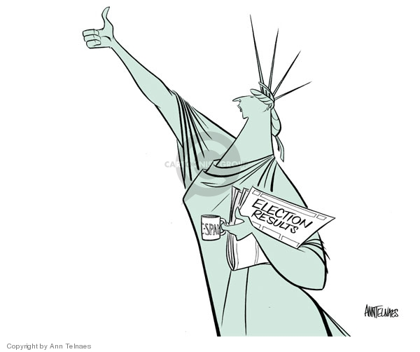Cartoonist Ann Telnaes  Ann Telnaes' Editorial Cartoons 2006-11-08 midterm