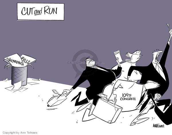 Cartoonist Ann Telnaes  Ann Telnaes' Editorial Cartoons 2006-12-05 congresswoman