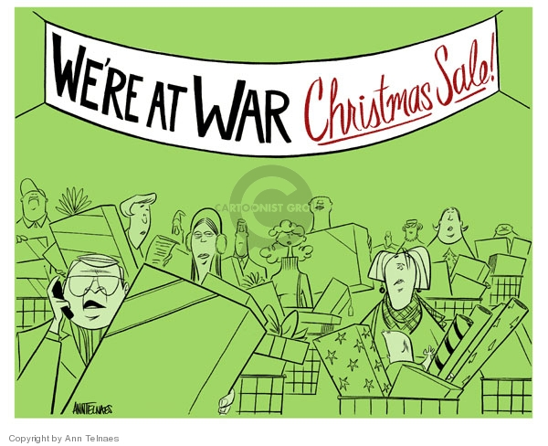 Ann Telnaes  Ann Telnaes' Editorial Cartoons 2006-12-20 war