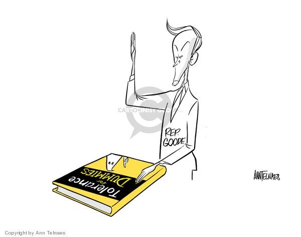 Ann Telnaes  Ann Telnaes' Editorial Cartoons 2006-12-23 bigotry