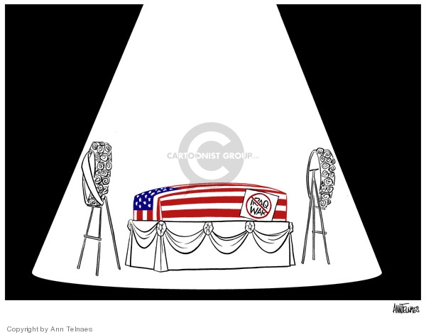 Cartoonist Ann Telnaes  Ann Telnaes' Editorial Cartoons 2007-01-03 coffin