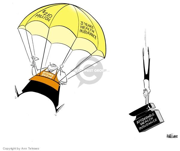 Ann Telnaes  Ann Telnaes' Editorial Cartoons 2007-01-06 health insurance