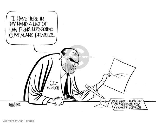 Ann Telnaes  Ann Telnaes' Editorial Cartoons 2007-01-14 enemy