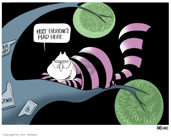 Cartoonist Ann Telnaes  Ann Telnaes' Editorial Cartoons 2007-01-28 Alice in Wonderland