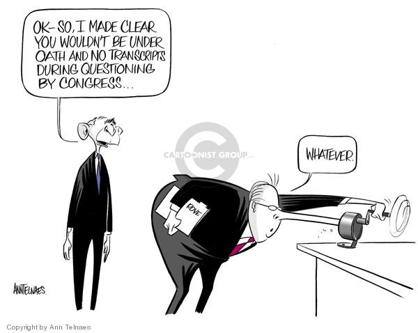 Ann Telnaes  Ann Telnaes' Editorial Cartoons 2007-03-21 Pinocchio