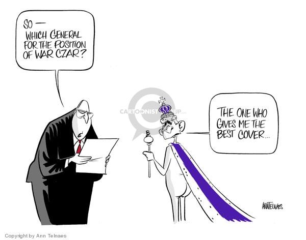 Ann Telnaes  Ann Telnaes' Editorial Cartoons 2007-04-13 executive branch