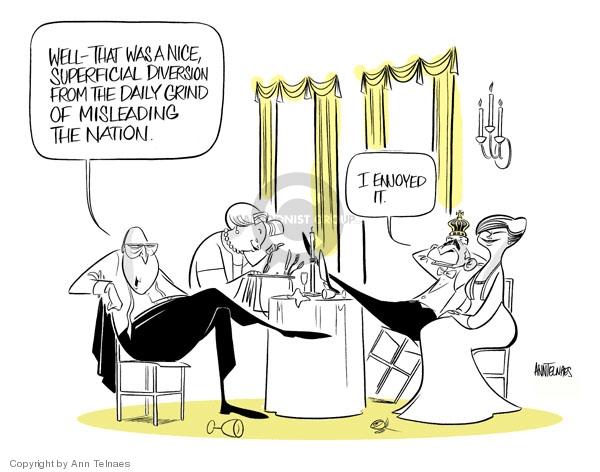 Ann Telnaes  Ann Telnaes' Editorial Cartoons 2007-05-09 first lady