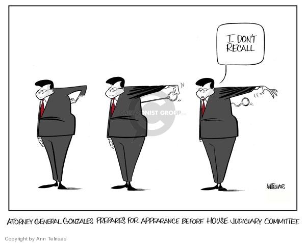 Ann Telnaes  Ann Telnaes' Editorial Cartoons 2007-05-10 Alberto Gonzales