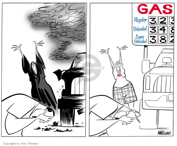 Ann Telnaes  Ann Telnaes' Editorial Cartoons 2007-05-25 gasoline