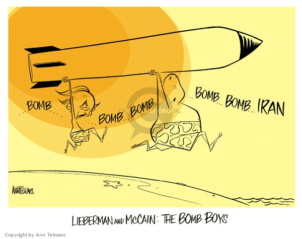 Ann Telnaes  Ann Telnaes' Editorial Cartoons 2007-06-10 John McCain
