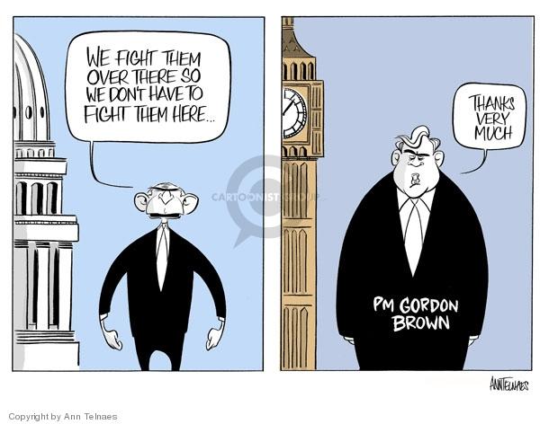 Cartoonist Ann Telnaes  Ann Telnaes' Editorial Cartoons 2007-07-01 international conflict