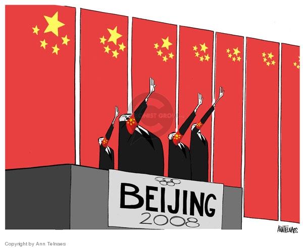 Ann Telnaes  Ann Telnaes' Editorial Cartoons 2007-08-08 China human rights