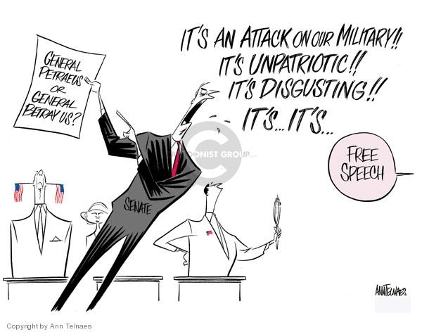 Ann Telnaes  Ann Telnaes' Editorial Cartoons 2007-09-21 Congress and Iraq