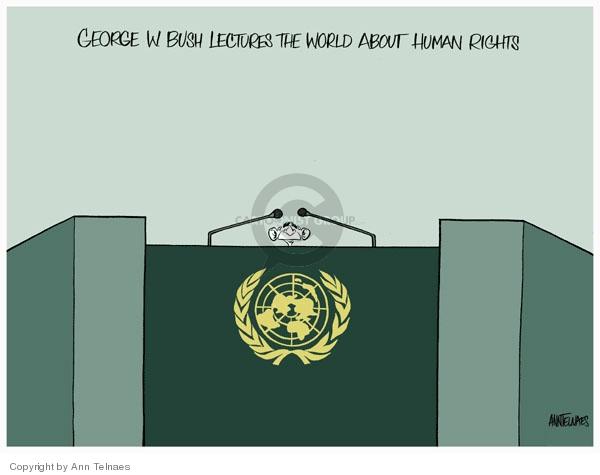 Ann Telnaes  Ann Telnaes' Editorial Cartoons 2007-09-12 United Nations
