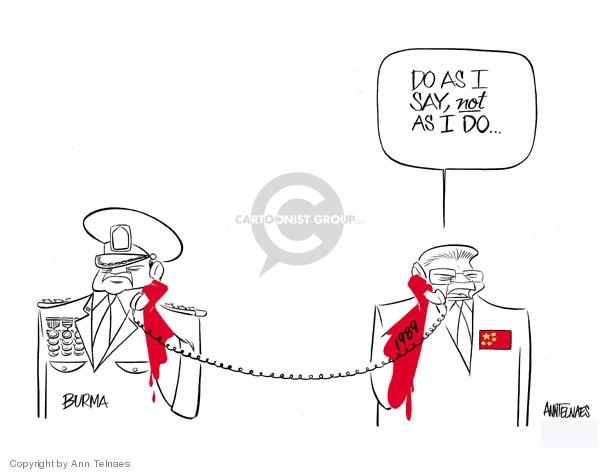 Ann Telnaes  Ann Telnaes' Editorial Cartoons 2007-09-28 Tiananmen