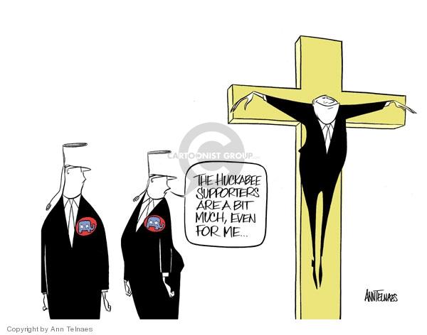 Cartoonist Ann Telnaes  Ann Telnaes' Editorial Cartoons 2007-12-19 Mike Huckabee