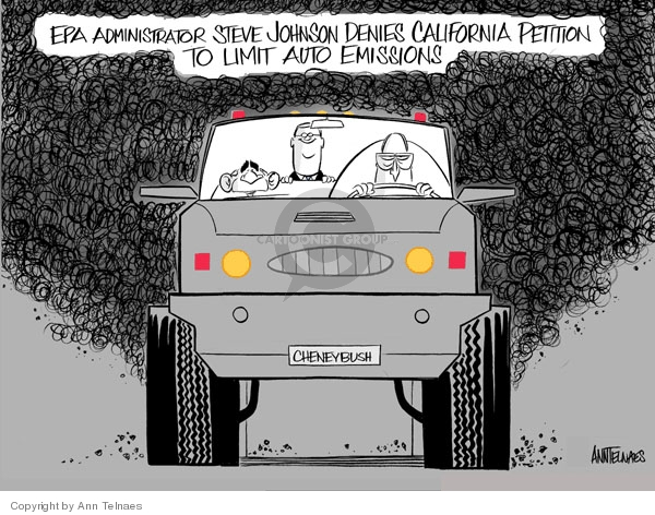 Ann Telnaes  Ann Telnaes' Editorial Cartoons 2007-12-22 Environmental Protection Agency