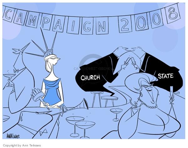 Ann Telnaes  Ann Telnaes' Editorial Cartoons 2007-12-29 state