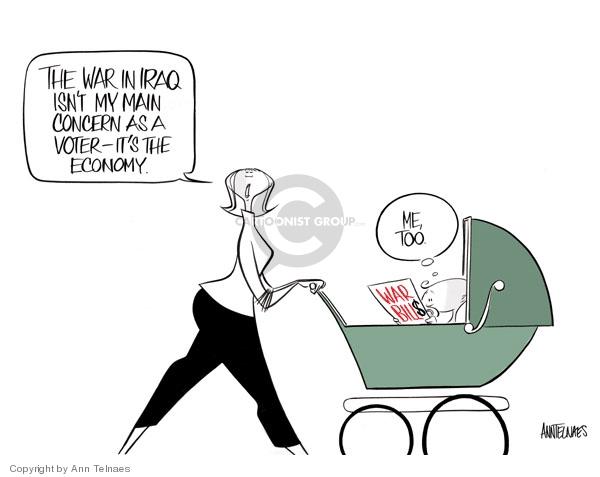 Cartoonist Ann Telnaes  Ann Telnaes' Editorial Cartoons 2008-01-17 voter