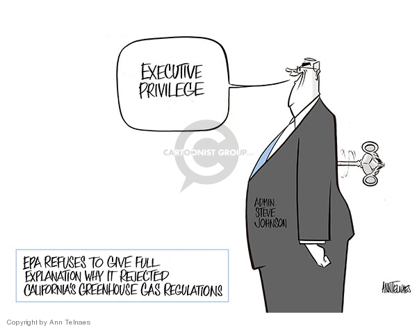 Ann Telnaes  Ann Telnaes' Editorial Cartoons 2008-01-21 executive privilege