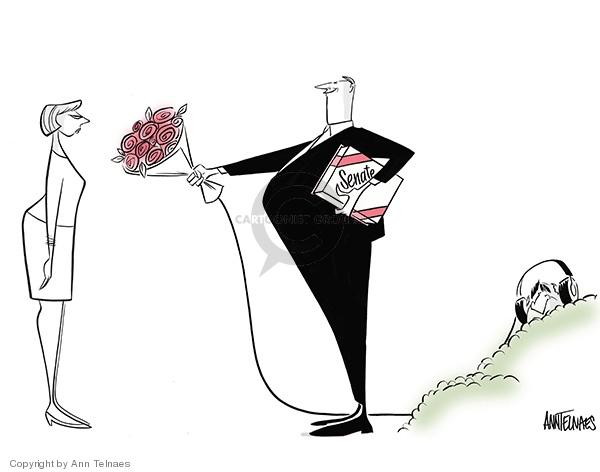 Cartoonist Ann Telnaes  Ann Telnaes' Editorial Cartoons 2008-02-13 senate