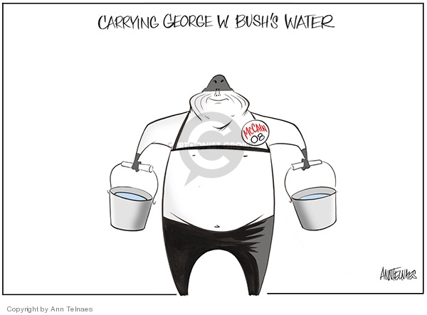 Carrying George W. Bushs water. McCain 08.