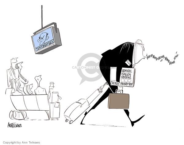 Cartoonist Ann Telnaes  Ann Telnaes' Editorial Cartoons 2008-03-12 international conflict