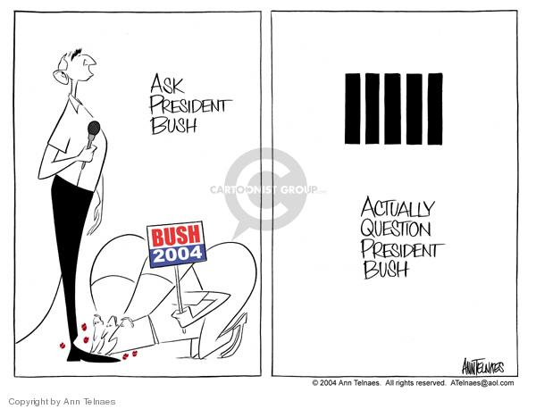 Ann Telnaes  Ann Telnaes' Editorial Cartoons 2004-09-21 support